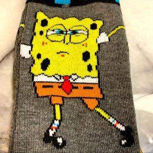 Sponge Bob Square Pants Men's Crew Socks NWT